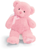 gund teddy pink plush baby's bear