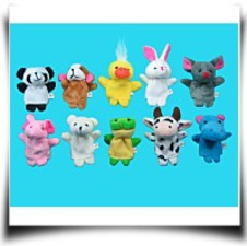 Specials 10 Pc Soft Plush Animal Finger Puppet