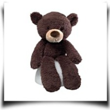 Fuzzy Chocolate 13 5 Bear Plush