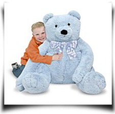 Melissa And Doug Jumbo Blue Teddy Bear