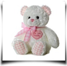 Plush Baby 14 Inches Pink My First Teddy